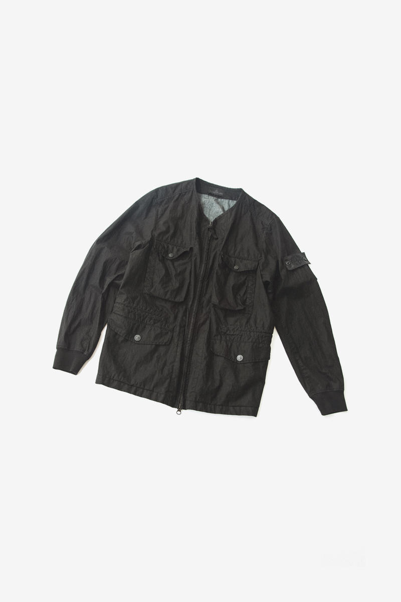 Stone Island Drops More For Its Shadow Project SS19 Collection green black bomber over shirt puffer jacket chest rig white t shirt info release drop date images apparel accessories