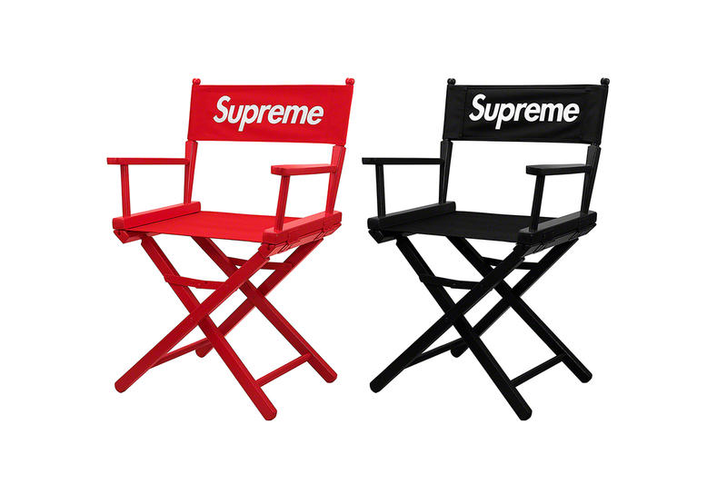 Supreme Spring/Summer 2019 Accessories Red/Black Folding Director's Deck Chairs