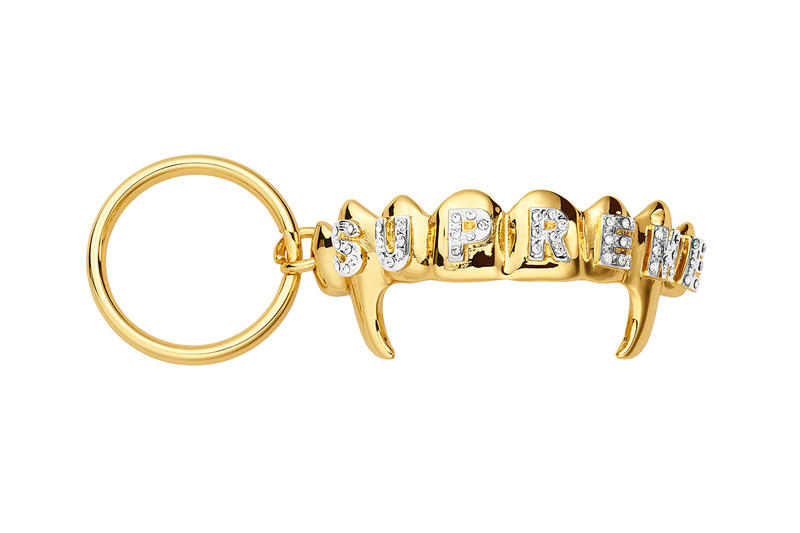 Supreme Spring/Summer 2019 Accessories Gold Grill Fangs Keyring