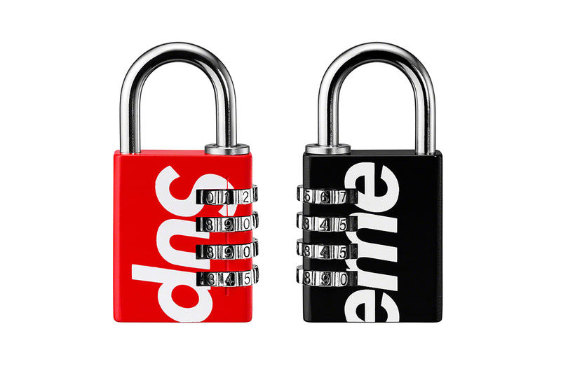 Supreme Spring/Summer 2019 Accessories Red/Black Padlock