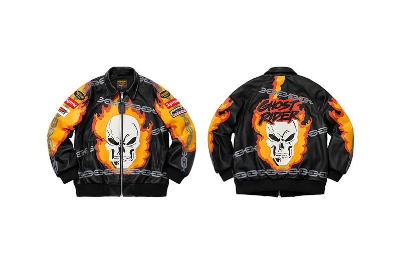 Supreme Spring/Summer 2019 Outerwear and Jackets Vanson Leathers Ghost Rider GORE-TEX Formula 1 Leather Jaguar