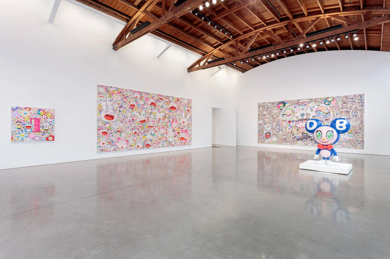 "Takashi Murakami GYATEI² Gagosian LA Exhibition kanye west cosplay los angeles ""I love it"" 'kanye cosplay painting'"