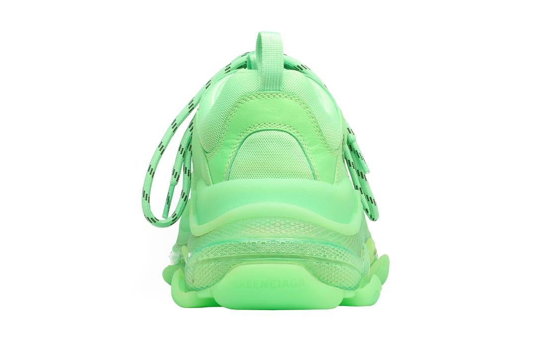 Giay Balenciaga Triple S Clear Sole Green replica 1 1 Shop