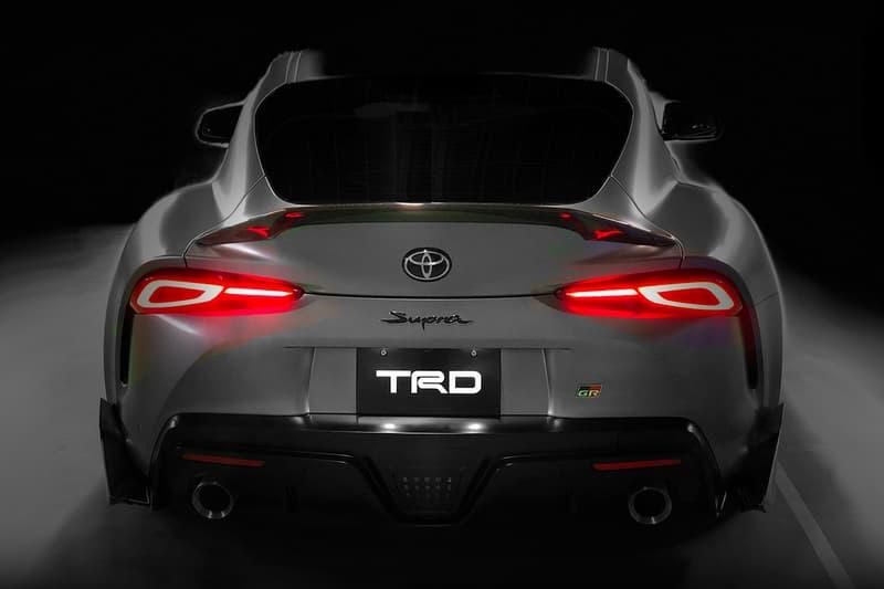 Toyota Reveals 2020 Supra TRD Performance Line Concept silver Performance Aero Kit racing Osaka Auto Messe car show