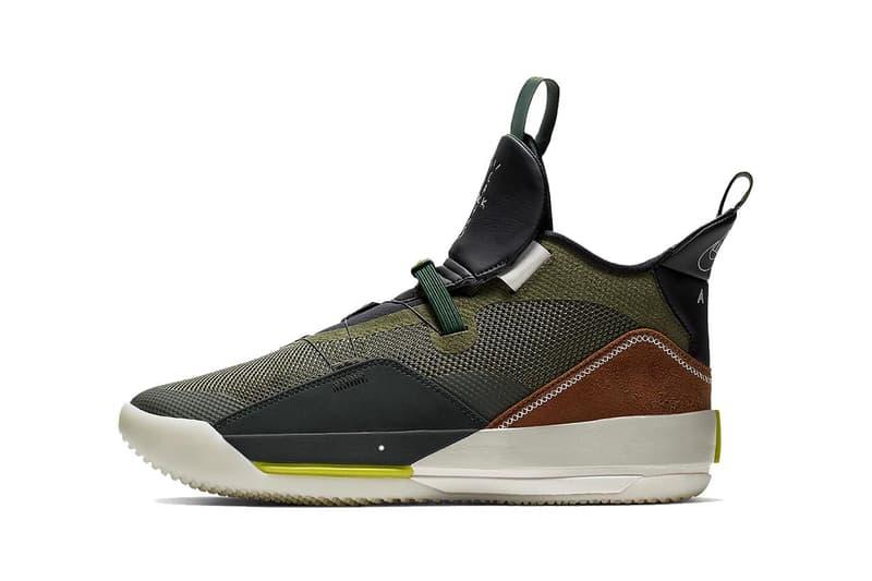 Travis Scott x Air Jordan XXXIII is on StockX basketball olive black brown catcus jack grey sports performance jordan texas houston music rap astroworld aj33