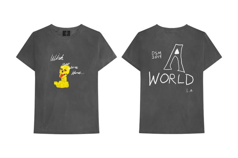 Travis Scott x Dover Street Market 'Astroworld' Merch tie dyed hoodies shirts beanie kylie jenner