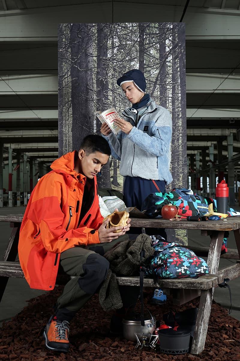 Tres Bien Haglöfs Spring Summer 2019 SS19 Capsule Collection Swedish Outdoor Helium Jacket ShoSho Backpack