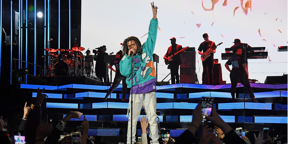 J  Cole NBA All-Star Game Halftime Show | HYPEBEAST