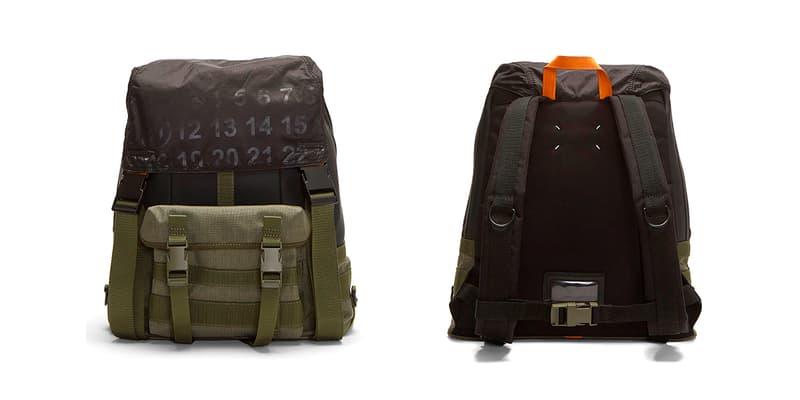 Maison Margiela Technical Numerical Backpack Release Info Khaki Black tactical LN CC