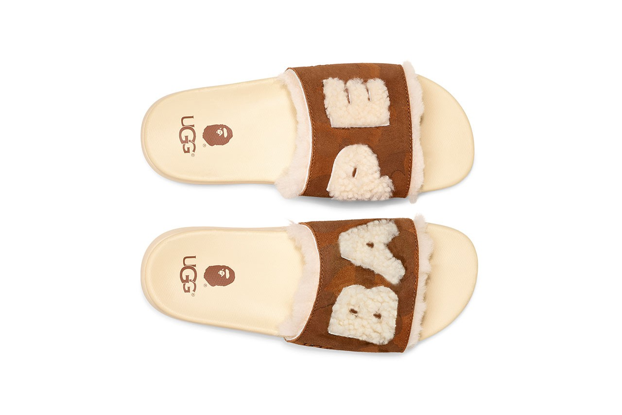 bape ugg collaboration campaign spring summer 2019 ss19 lil wayne slide sandals sneaker drop release date info february 9 2019 buy