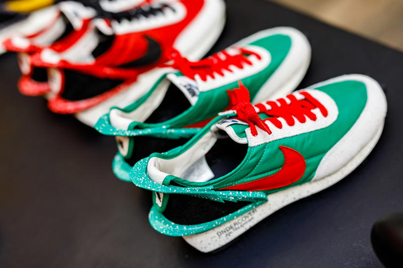 "Undercover x Nike Daybreak Sneaker Release Info 7 seven colorways jun takashi ""Black/White/Summit White"" ""Blue Jay/Summit White/Black"" ""Bright Citron/Black/Summit White"" ""Black/Black/Sail"" ""Lucky Green/University Red/Sail"" ""Obsidian/Gold Dart/Sail"" ""University Red/Black/Spruce Aura"""
