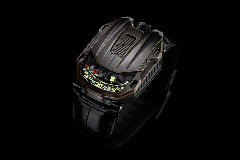 URWERK UR 105 CT Maverick Watch Bronze black titanium satellite wondering hour hand indicator timepiece wristwatch brown