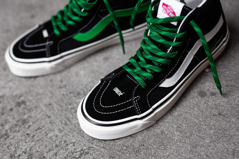 Coutié x Vans Old Skool SK8-Hi Old C Logo Shoe Info Information Details Sneakers Trainers Kicks Shoes Footwear Cop Purchase Buy Collab Collaboration Collaborations Design Available Now Online