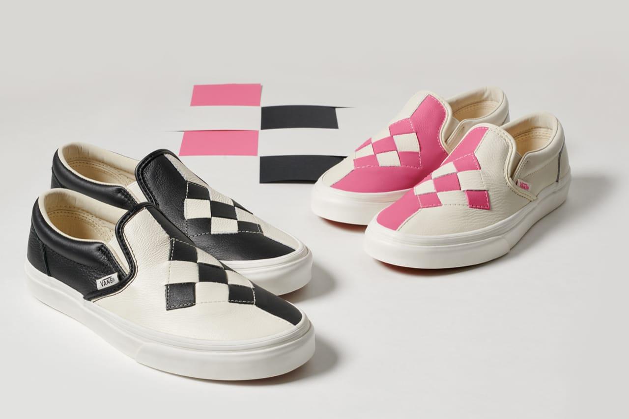 slip on vans black and white checkerboard