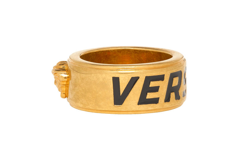Versace Drop New Statement Rings Info fashion jewellery accessories Gold Medusa Head Release Info Fall winter 2019