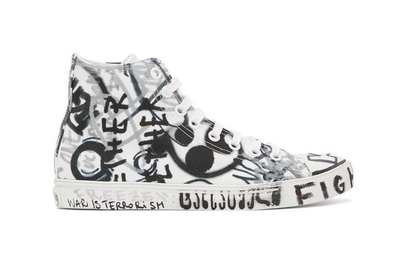 8193153e6e81 Vetements Georgian Graffiti Low   High-Top Sneakers made in Italy white  black