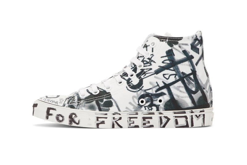 8b83d2c46a69 Vetements White Georgian Graffiti Sneakers