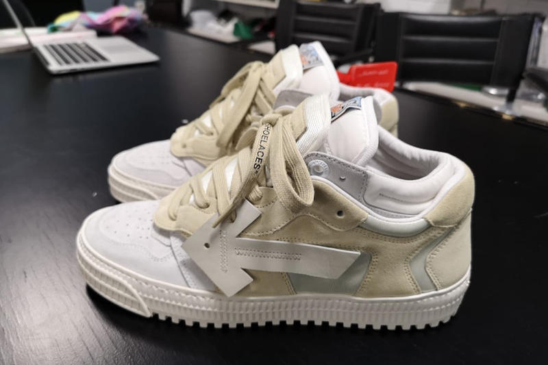Virgil Abloh Teases Off-White™ 3.0 Off-Court Lows sneakers purple blue green beige off white than