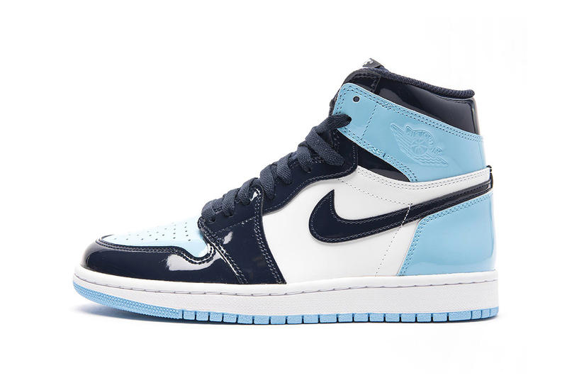 "WMNS AJ1 Retro High OG ""Blue Chill"" on Stockx white basketball michael obsidian wings air jordan nba all-star weekend"