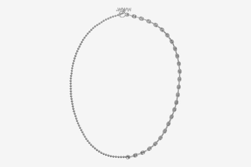 WWW.WILLSHOTT 2-Link Split Chain Necklace Release Silver ball small big