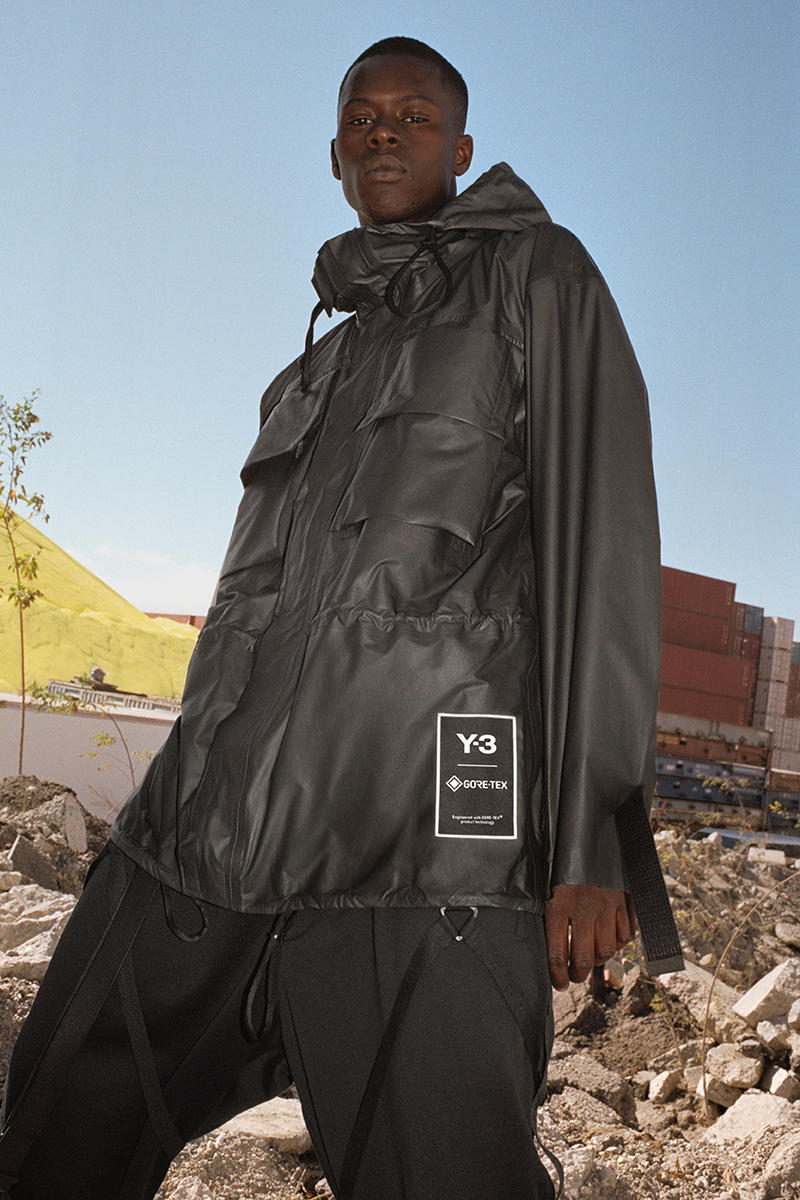 Y-3 GORE-TEX Utility hoodie Jacket Long Coat Pack release date drop info buy february 4 2019 black line