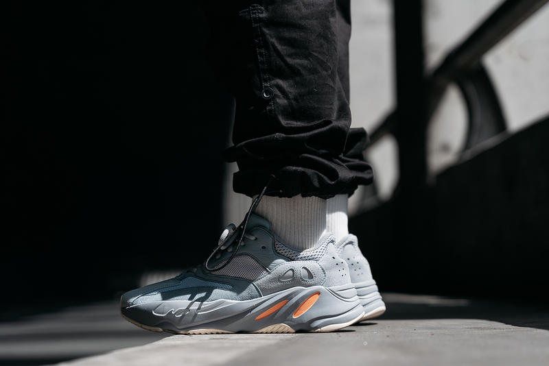 yeezy boost 700 inertia on foot feet release date info drop buy colorway randy galang march 2019 style grey runner kanye west