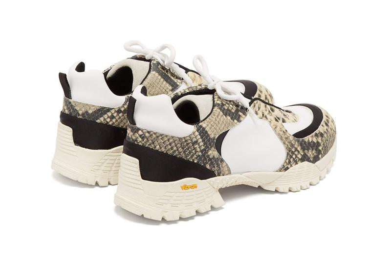 1017 alyx 9sm detachable grip python leather hiking trainers matchesfashion 1255973 ss19 spring/summer 2019 vibram sole sneakers shoes