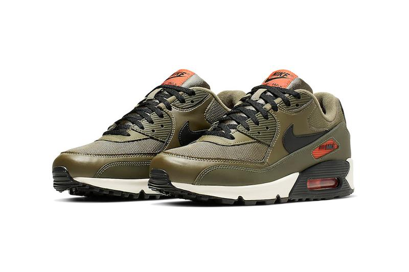 nike air max 90 essential sneakers khaki green undefeated colorway