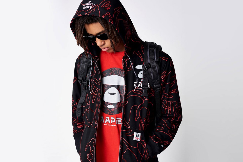 45dcb8ec2a9c Image is loading 2018-Men-039-s-Japan-Bape-TWO-Shark-. AAPE by A BATHING APE  ...