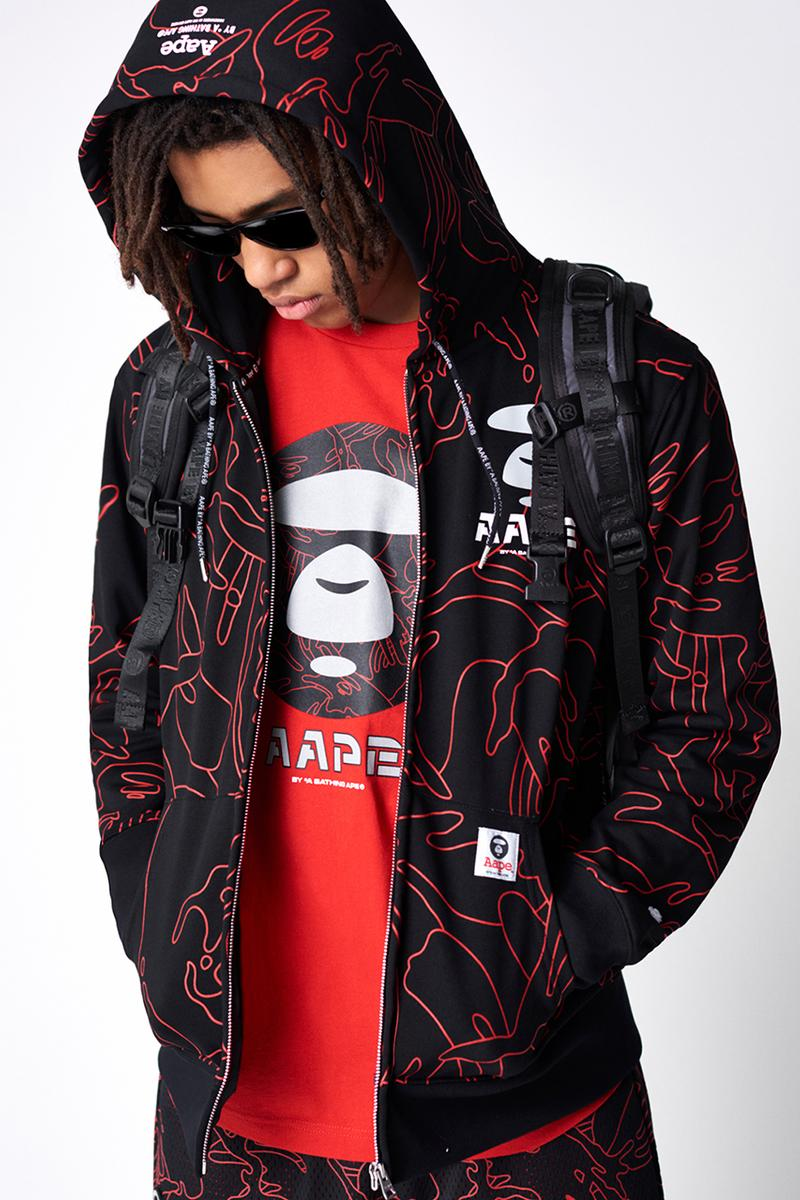 AAPE by A BATHING APE Spring 2019 Lookbook collection release date drop info buy camouflage head BAPE