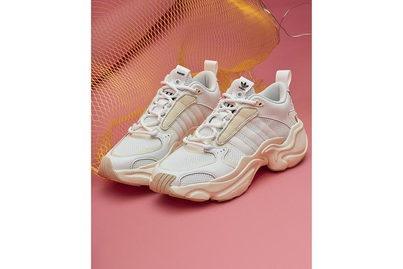 adidas Consortium Naked Magmur Runner Collaboration New Silhouette All White Friends and Family Green Blue Chunky Vintage Design AdiPrene