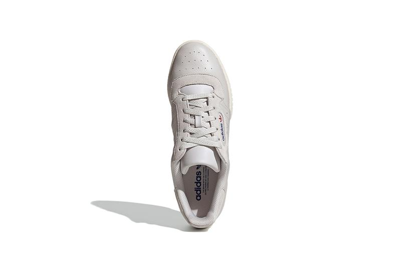 adidas Originals Powerphase Grey One Off White Sneaker Shoe Trainer Yeezy Calabasas OG Retro Inspired Three Stripes Premium Leather Debossed Lettering Release Date Drop Information How To Cop