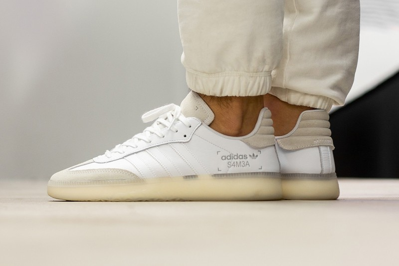 """55cb09809869 The Updated adidas Samba RM Drops in """"Cloud White""""   """"Core Black ..."""