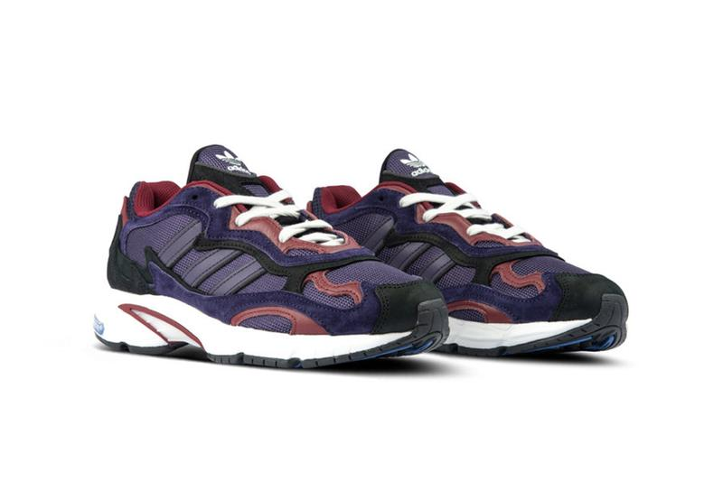 adidas Temper Run Raw Amber Core Black Legend Purple New Colorways OG Sneaker Dad Shoe Chunky Silhouette