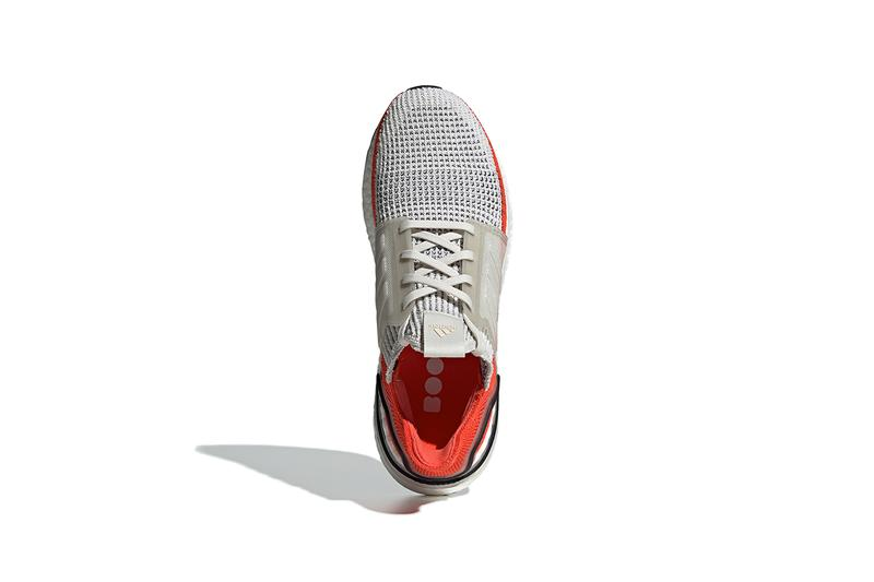 adidas UltraBOOST 2019 Spring Summer SS19 Active Orange Chunky Boost Unit Extra Cushioning Technology NASA White Clear Cage Three Stripes Trefoil Branding New Shape Design Release Information Drop Date