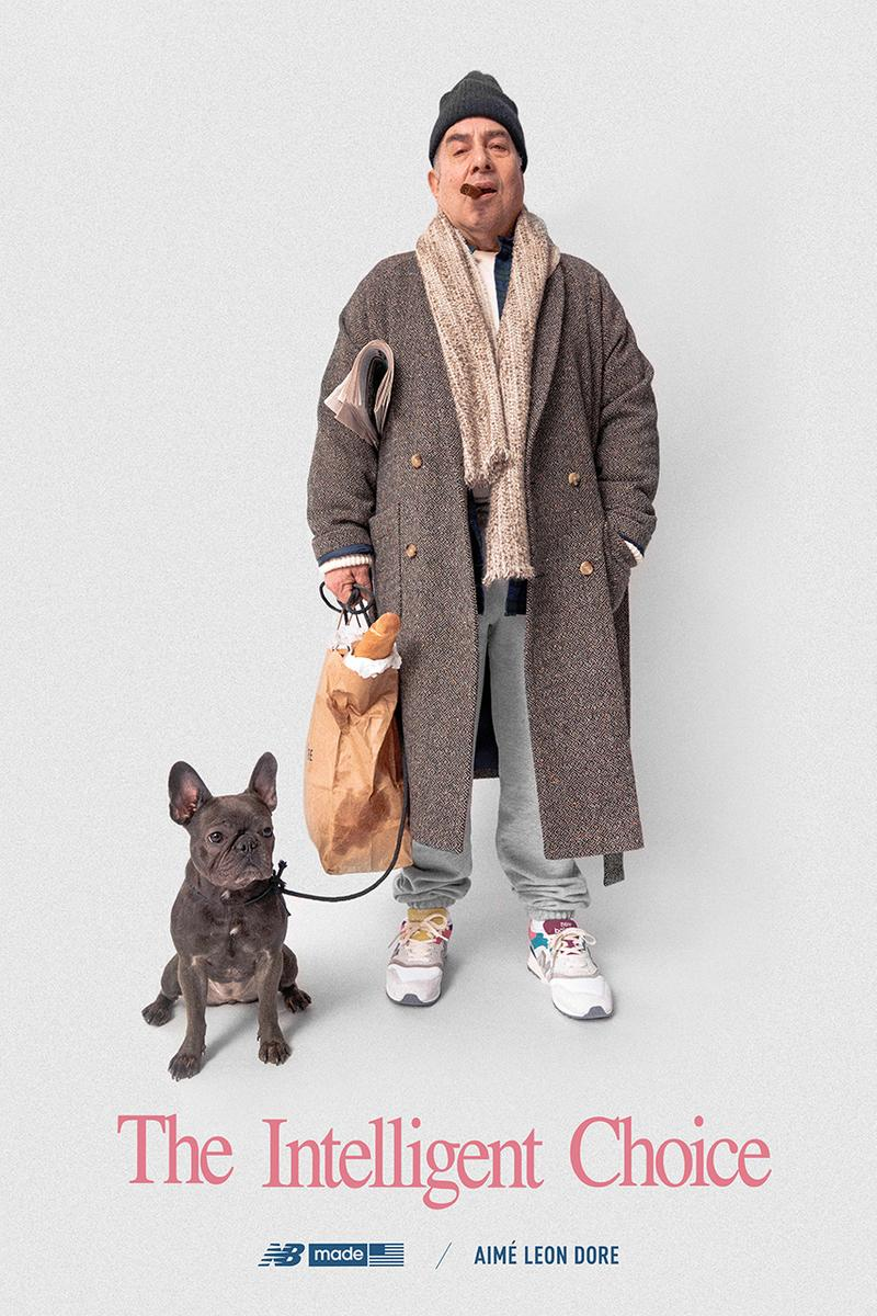 "aime leon dore new balance sneaker collaboration footwear 2019 When the going gets tough the tough get going""  intelligent choice dog french bulldog"
