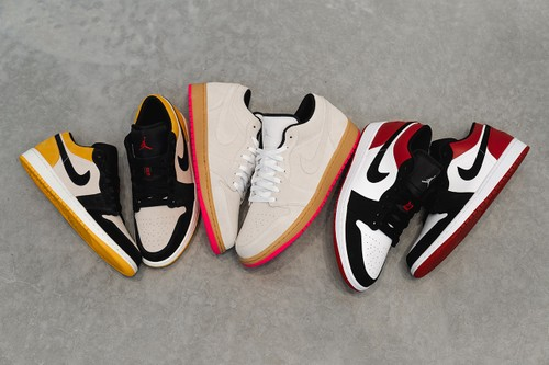 New Trio of Air Jordan 1 Lows Takes Inspiration From Skating Culture