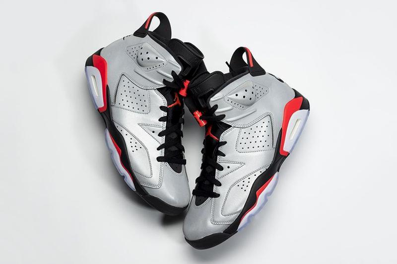 half off 1b4db 3ee4d Nike Air Jordan brand 6 Retro Reflective 3M Infrared Black Silver  CI4072-001 Release red