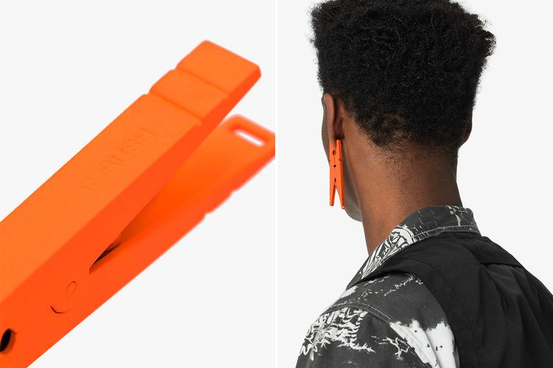 Ambush Nobo Clip Earring Release Yoon Orange Peg clothespin