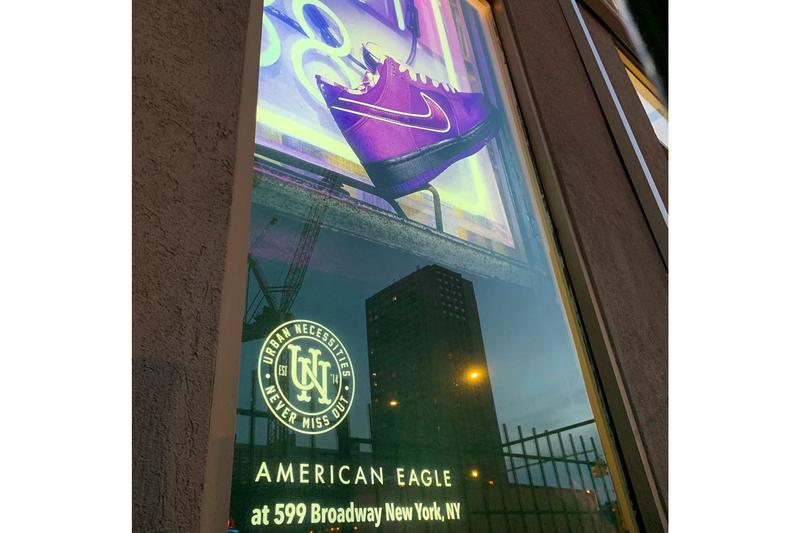 American Eagle Outfitters Douses Store With Nike Ads sportswear urban necessities sneaker resell shop pop-up