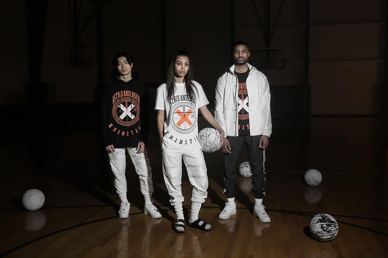 Astrid Andersen x XHIBTION Sportswear Collection Lookbook fashion lookbooks Scandinavia basketball 3m reflective stripes x orange black white