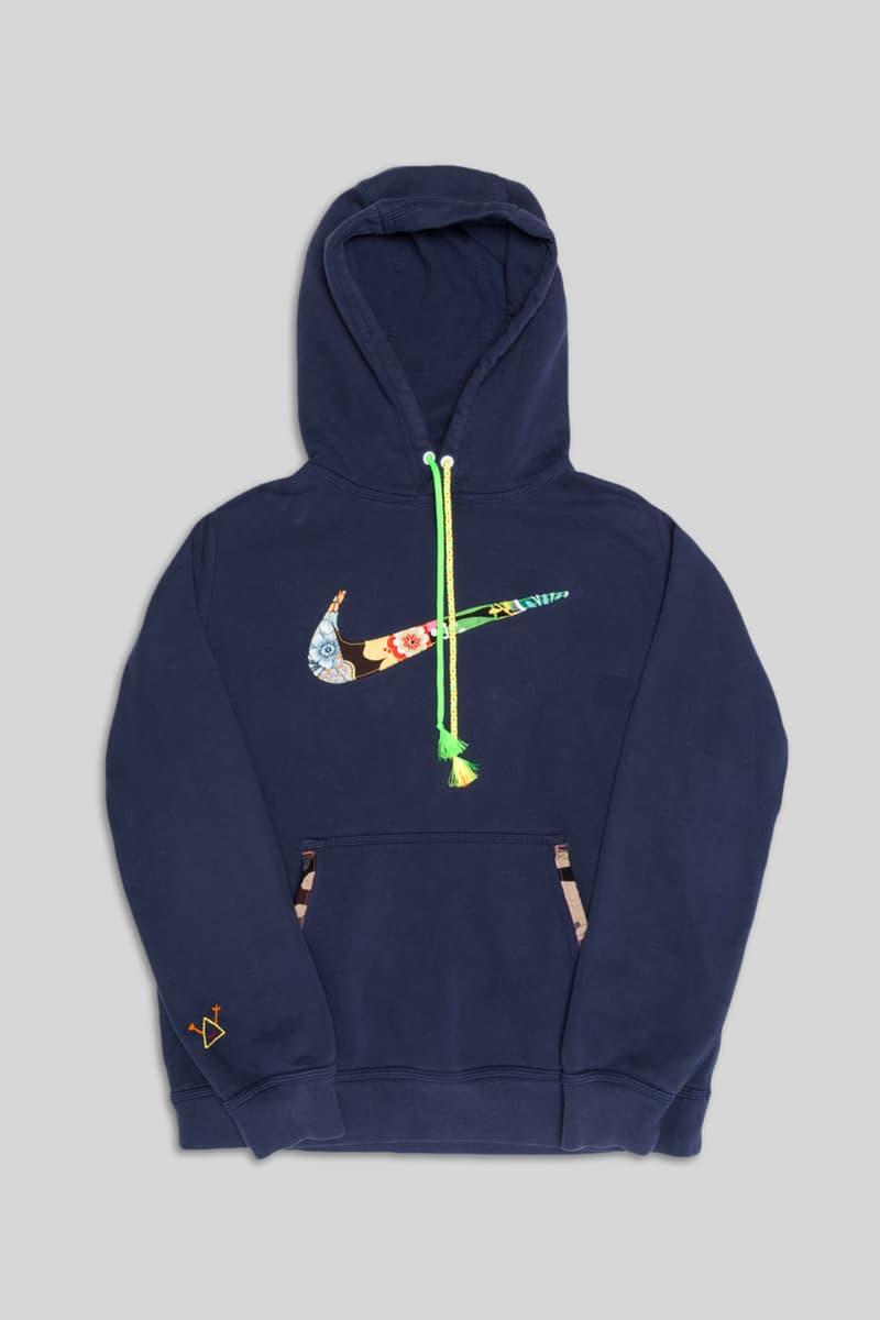 Atelier & Repairs' Patchwork Nike adidas Gear sweater shirt hoodie shirt swoosh logo denim