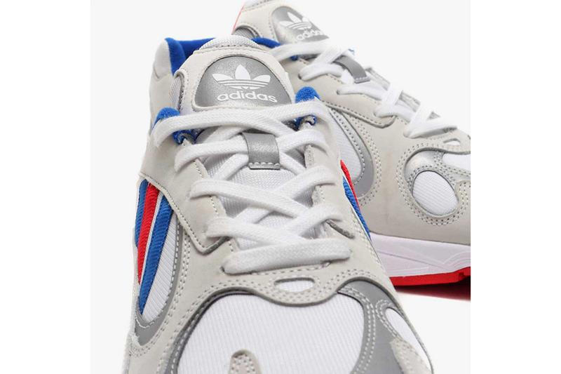 atmos adidas Yung 1 Barber Shop Falcon Dorf Red White Blue Silver Japanese Retailer Three Stripes OG Chunky Shoe Silhouette Release Information March 16 Drop Date
