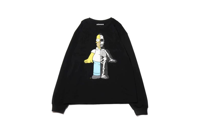 atmos lab secret base the simpsons collaboration homer bart krusty graphic t shirt tee
