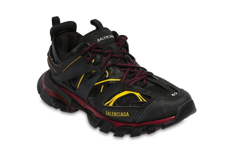 Balenciaga Track Trainers Black Yellow Release Red