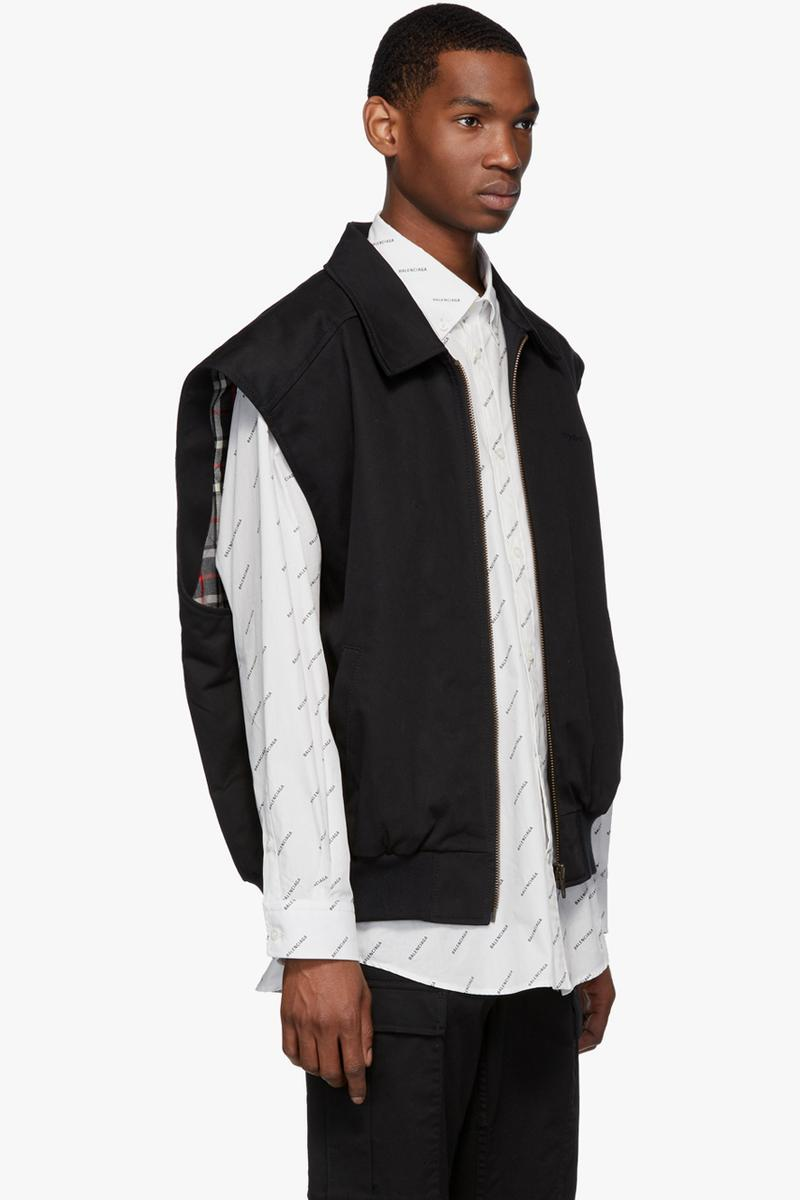 balenciaga twin set jacket black navy release ssense