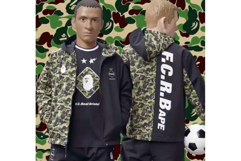 F.C.Real Bristol x BAPE Collab Teaser Collaboration Clothing Cop Purchase Buy