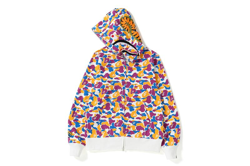 BAPE LA Los Angeles A Bathing Ape Shark Zip Hoodie Print ABC Camo Anniversary Collection Release Date Drop Information T shirts Jet Caps Headband bucket hat shorts exclusive limited edition online instore