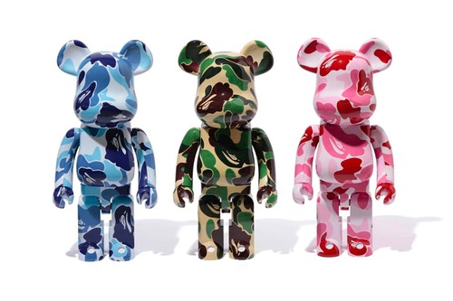"BAPE & Medicom Toy Ready 1000% ""ABC CAMO"" BE@RBRICKs"