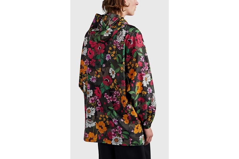 Valentino floral camoflauge tech satin oversized jacket barneys new york mens